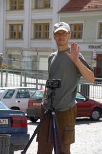 Autor při akci fotoklubu v Třebíči